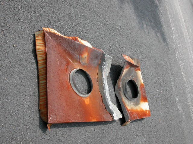 Badly Rusted Galvanized Chase Covers
